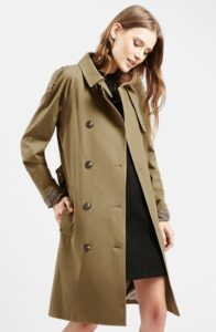 Topshop Doublebreasted Trench Coat