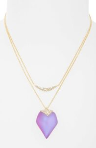 Alexis Bittar lucite multi strand necklace