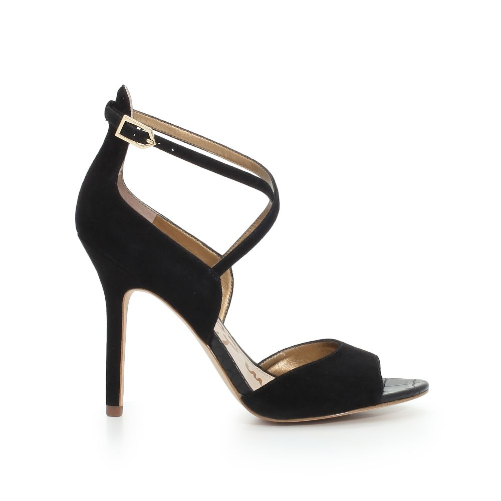 Open toe shoes at work Sam Edelman Audrey Suede cross strap sandal