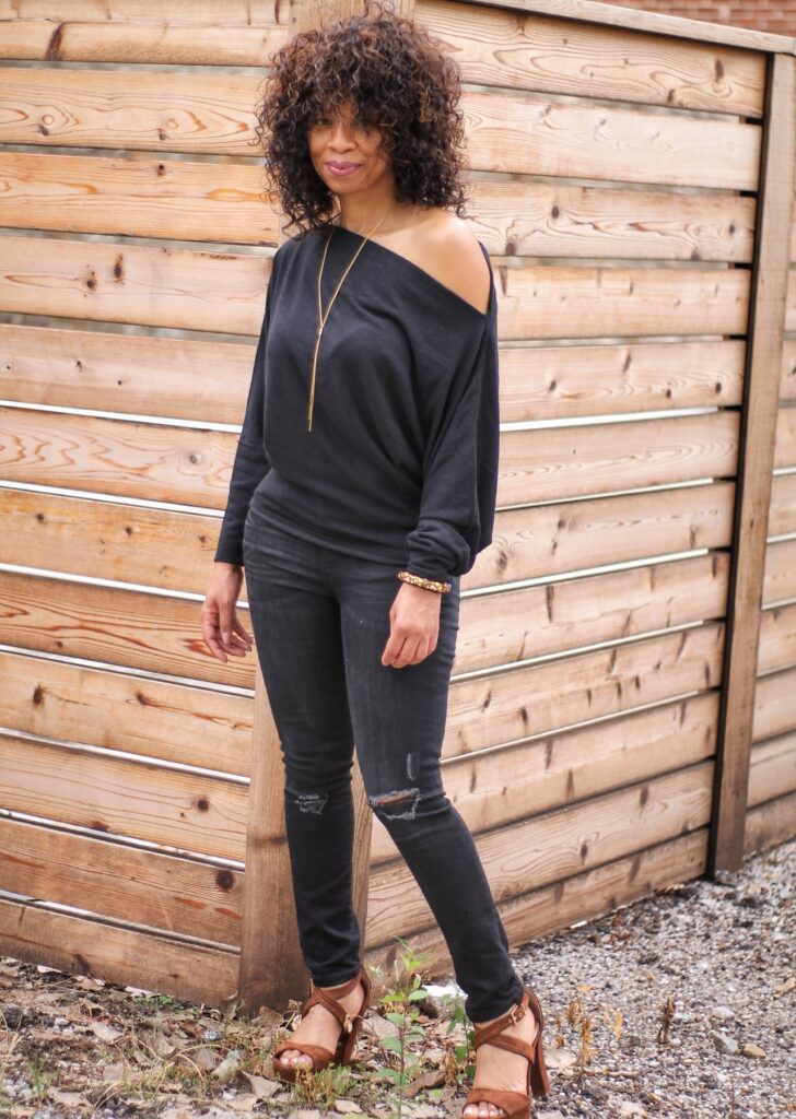 Drapey Off the Shoulder Sweater